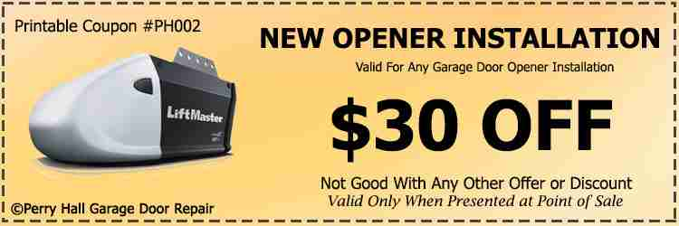 Garage door coupon